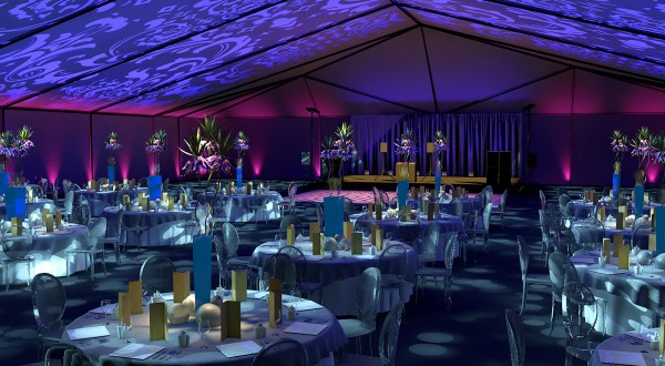 damask tent