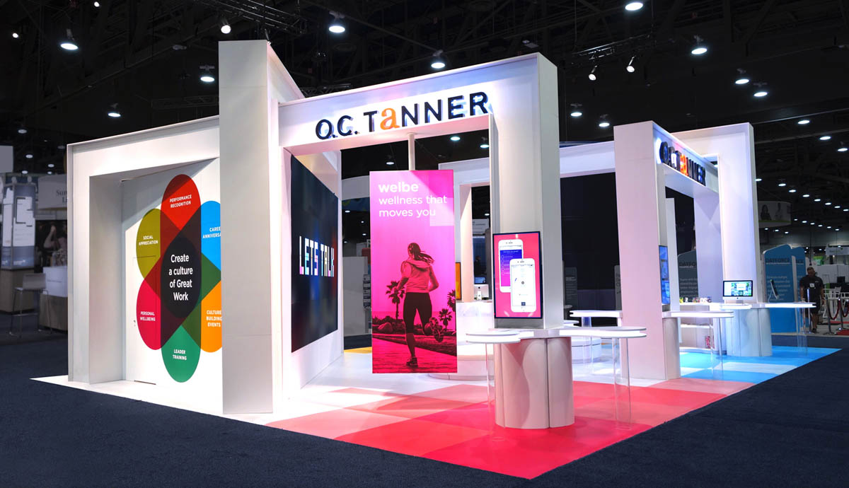 Exhibition Booth Meaning : O c tanner booth d rendering for event professionals
